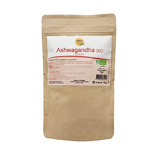 Ashwagandha poudre bio certifié Ecocert