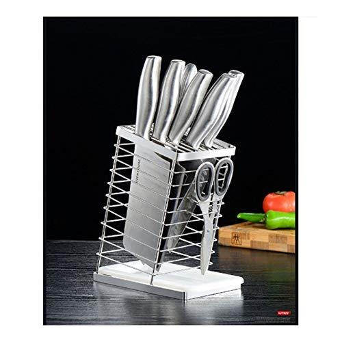 Aitaolian Titular De Cuchillo De Acero Inoxidable Sin Cuchillos, 8 Ranuras De Soporte De Exhibición Cuadro Cuchillo De Cocina Vacía Y Cubiertos De Rack De Almacenamiento