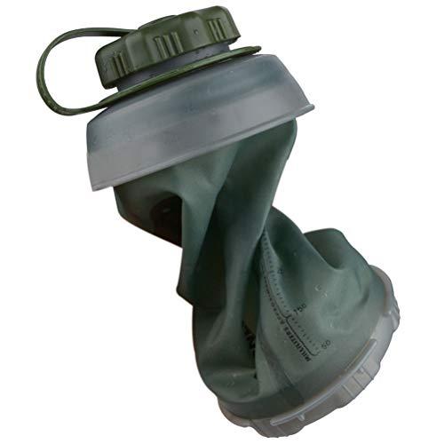 WSTERAO Botella de Agua Plegable 500 ml, Botella de Agua Plegable Botella de Agua de Viaje Botella de Agua Plegable Flexible Reutilizable para Acampar para Senderismo, Aventura, Viajes