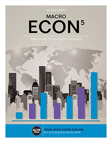 Compare Textbook Prices for ECON MACRO with ECON MACRO Online, 1 term 6 months Printed Access Card New, Engaging Titles from 4LTR Press 5 Edition ISBN 9781305659094 by McEachern, William A.
