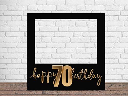 Photocall Feliz 70 Cumpleaños 100 x100 cm | Regalos para Cumpleaños | Photocall Económico y Original | Ideas para Regalos | Regalos Personalizados de Cumpleaños