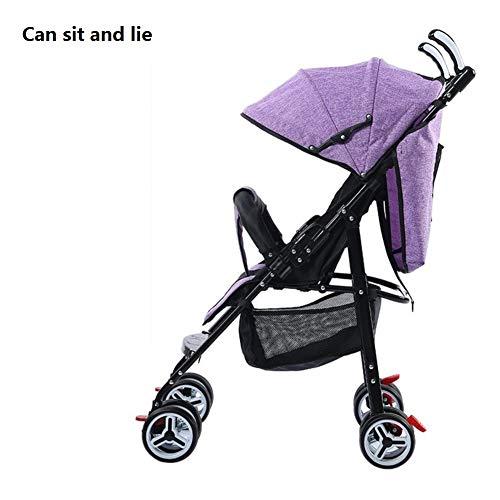 High Landscape - Cochecito de bebé 2 en 1 barato desde el nacimiento de los recién nacidos, carrito plegable ligero para niños