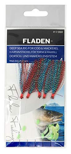 Fladen Fishing - Paquete individual de anzuelo clásico listo para usar para barco atado mar y tierra, gama de señuelos para bacalao y caballa y otras pesca marina