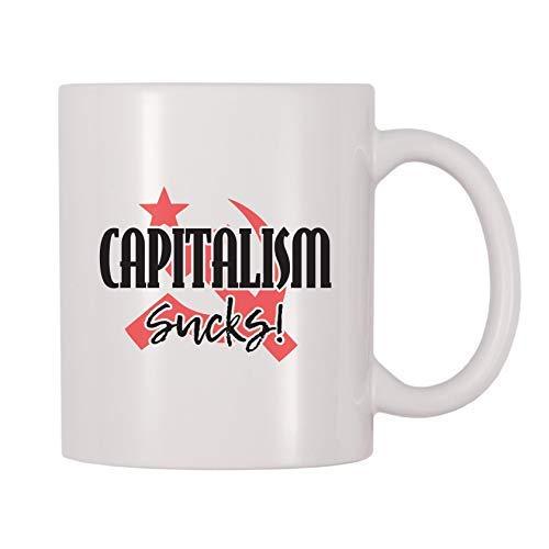 Taza de café de cerámica con diseño de martillo y hoz comunista socialista, regalo para hombres, mujeres, mamá, padre, maestro, Navidad, cumpleaños, jubilación, graduación