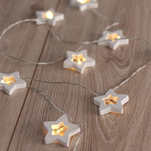 Lichtsnoer warm wit statisch batterijvoeding LED slinger tuindecoratie
