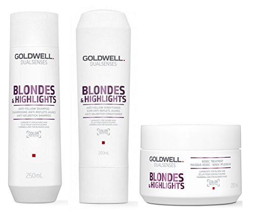 Goldwell Dualsenses Blondes & Highlights SET Shampoo 250ml + Conditioner 200ml + Treatment 200ml