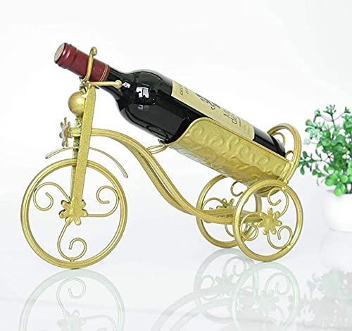 MQJ Estante de Vino Colgando Estante de Vino Creativo Vino Techo Titular Decoración Casera Vino Estante Alto Soporte Al Revés Alenamiento de Rack,Oro