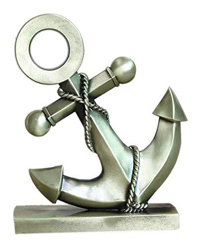Desktop-Skulptur Eisenboot Ankerhandwerk Modell skulptur mediterran kunst statue home desktop dekoration zubehör restaurant bar metall puppe figuren