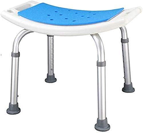 Silla de baño silla de ducha taburete de ducha asiento de baño asiento de altura ajustable asiento ligero aluminio personas discapacitadas altavoces altavoces 150kg