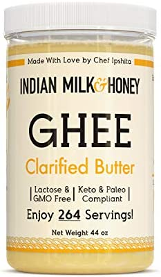 Original Grass Fed Desi Ghee Clarified Butter by Indian Milk Honey 44 Ounce Bulk Ghee Keto Paleo product image