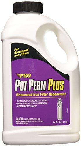 Pot Perm Plus Potassium Permanganate Greensand Iron Filter Regenerant 76 Ounce Bottle