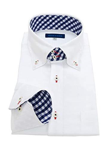 men's uno(メンズウーノ) 長袖ワイシャツ 形態安定 uaubuc ノーアイロン メンズ ua1 002-M-r