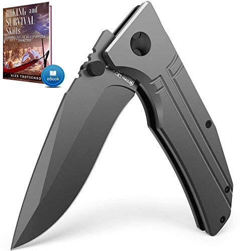Spring Assisted Knife - Pocket Folding Knife - Military Style - Boy Scouts Knife - Tactical Knife -...
