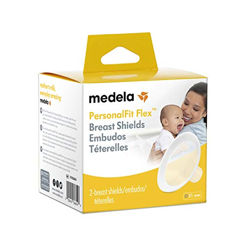 Medela PersonalFit Flex Breast Shields, 2 Pack of Small 21mm Breast Pump Flanges, Made Without BPA, Shaped Around You for Comfortable and Efficient Pumping