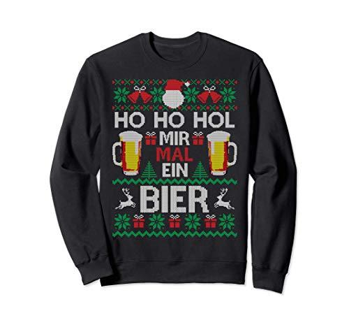 Ho Ho Hol Mir Mal Ein Bier I Lustiger Ugly Christmas Sweatshirt