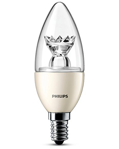 Philips Lighting LEDOL7DMB1 Lampadina LED, 40W, E14, WW, 230V, B39, CL, D/4