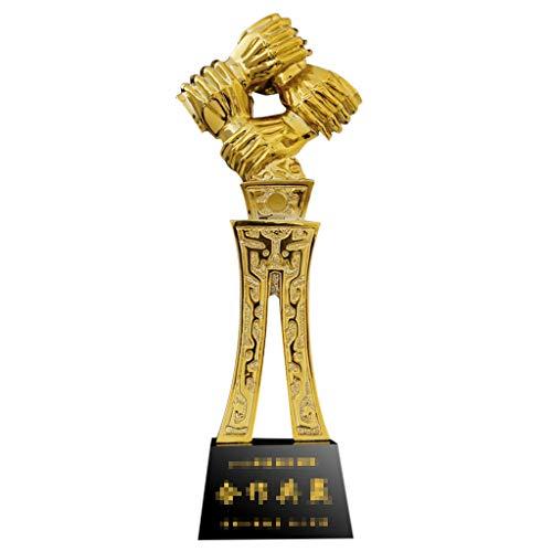 Trofei, medaglie e premi Dipendente Aziendale Lavoratore Encomio Disegno Concorrenza Resina Decorazione del Salone (Color : Gold, Size : 9 * 29CM)
