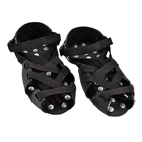 MaQyq Funda para Zapatos Antideslizante, Funda para Zapatos con Crampones De 32 Dientes Correa Ajustable Elasticidad Resistente A La Corrosión Y Antideslizante, Adecuada para Carreteras Heladas,40
