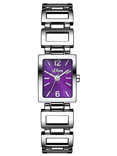 s.Oliver Damen-Armbanduhr Analog Quarz Alloy SO-3024-MQ
