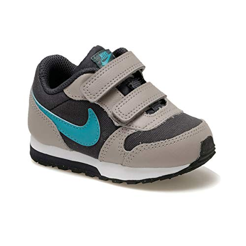 Nike MD Runner 2 (TDV), Zapatillas Niños, Gris (Gridiron/Teal Nebula/Pumice/Faded Spruce 017), 21 EU