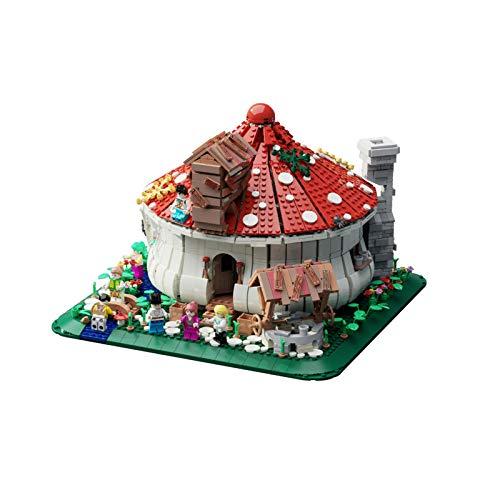 Kit De Construcción De La Casa De Hongos; Forest Elf Fairy Tale Family Story, Juguetes Frescos De Vacaciones con Estatuillas Coleccionables,(2633 Pieces)
