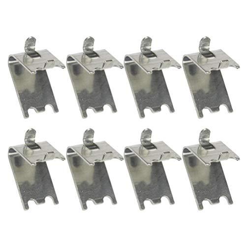 DOITOOL 8 Stücke Kühlschrank Regal Clip Ersatz Gefrierschrank Regal Clip Gefrierschrank Kühler Regal Unterstützung Platz Clips Edelstahl Regal Clip für Kühlschrank