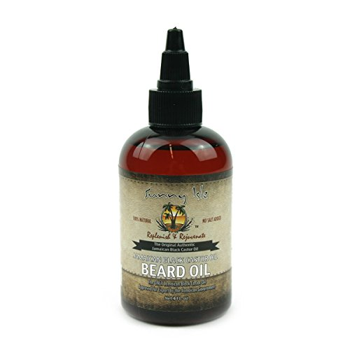Sunny Isle Beard Oil 100% Natural Jamaican Black Castor Oil 4oz