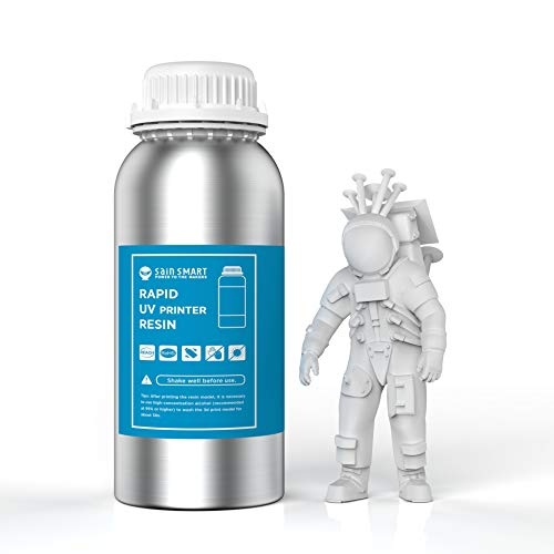 SainSmart 3D Printer Resin White Resin Rapid 3D Printing Resin 405nm General Purpose Photopolymer Curing Resin for 3D LCD MSLA Resin Printer 1000g White