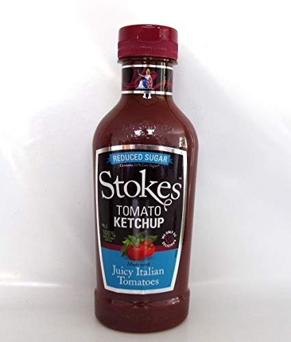 Stokes Sauces Stokes Reduced Sugar Tomato Ketchup Squeeze 424ml