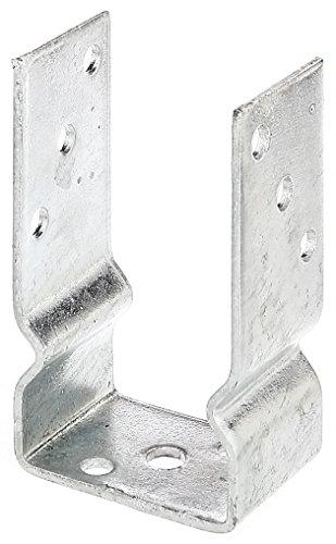 GAH-Alberts 217617 U-Pfostenträger, zum Aufschrauben - feuerverzinkt, lichte Breite: 81 mm