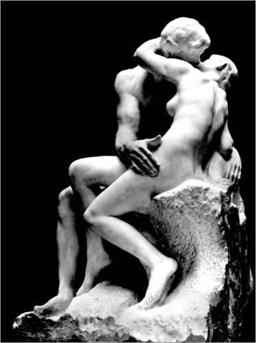 Poster 50 x 70 cm: Der Kuß von Auguste Rodin/akg-Images - hochwertiger Kunstdruck, neues Kunstposter