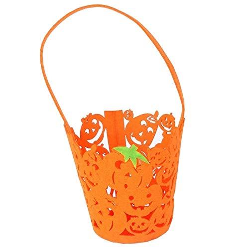 WSJDE 1 stücke Halloween Handtasche Lächeln Kürbis Tasche Kinder Süßigkeiten Tasche Kinder Handheld Tasche Partei Liefert Halloween Thema Party Geschenk TascheKürbis