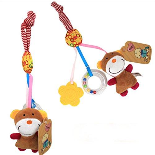 CanVivi Kinderwagen Anhänger Kinderwagenspielzeug Musik Mobile Plüsch Tier Spielzeug ,Bär