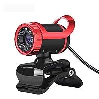 XiZiMi USBビデオウェブカメラ0.3MP HDビデオカメラ コンピューター用 内蔵マイクネットワークティーチング会議用ビデオカメラ、ラップトップ デスクトップ Red
