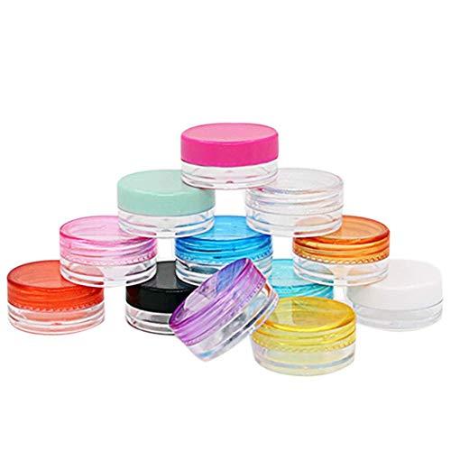 Mcottage 10 Pièces / Set Plastique Cosmétique Boîte Vide Pot Art Ongles Cosmétique Conteneur de Stockage Cordon Rond Bouteille 5g Maquillage Transparent