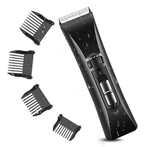 Maquina Cortapelos Hombre Profesional, Afeitadora electrica Inalámbrico 8 en 1, Versatile Hair clippers Kit para Doméstico y Salon, Beard trimmer de Precisión Waterproof
