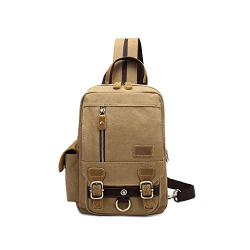 WYJW Chest Pack Mini Schouder Dual Use-Pakket Canvas Bag Multifunctionele kleine rugzak Travel Berggsteigentas #2