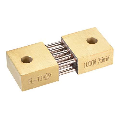 Shunt Resistor 1000A 75mV para DC Current Ammeter Analógico Panel Meter External FL-19 Shunt Divider