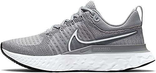 Nike Men's React Infinity Run Flyknit 2 Running Shoes Particle Grey/Grey Fog/Black/White Size 9.5