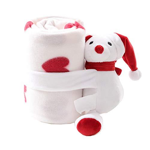 AIITLLYNA Manta de Navidad,Manta Microfibra Sofa Manta para bebé Juego de 2 Unidades Manta Suave y Peluche para...