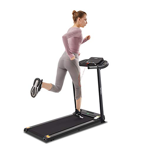 LONTEK Treadmill for Home Foldable with MP3 & Speaker, Running Machine for Home Use with 12 Programs, LCD Display,Maximum Speed up to 10KM/H, Folding Treadmill with Sports App for Home & Office