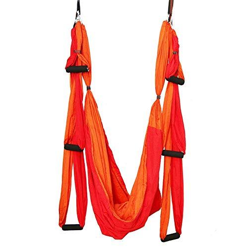 COLiJOL Yoga Swing 6 Asas sin Elástico Invertido Gravity Hamaca de Fitness de Dos Colores Hamaca de Yoga Aérea Inversa Hecha de Material de Alta Resistencia para Reducir el Desgaste Y la Fricción,Dob