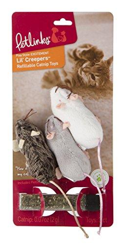 Petlinks Refillable Catnip Cat Toys, Lil' Creepers