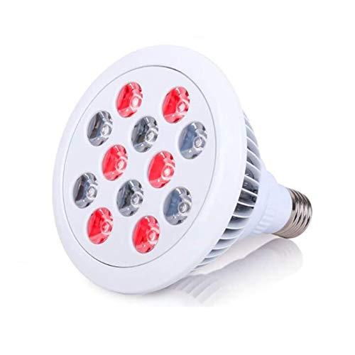 CANDYANA Rotlichttherapiegerat, 12 LED-Infrarotlichttherapiegerät, 660 Nm Rote Und 850 Nm Nahinfrarot-Kombinationsrotlampe Für Haut- Und Schmerzlinderung Gegen Alterung Mit Ständer