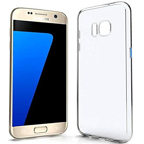NewTop Cover Compatibile per Samsung Galaxy Note S6/S7/Edge/Plus, Custodia Morbido TPU Clear Protettiva Silicone Trasparente Slim Case Posteriore (per S7)