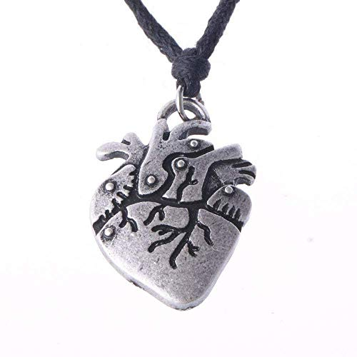 LKLFC Necklace Women Necklace Men Necklace Gothic Punk Heart Necklace Biology Pendant Nurse Medical Student Gift Jewelry 50cm Pendant Necklace Girls Boys Gift