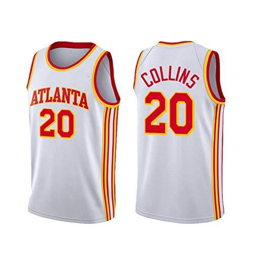 USSU Camiseta de baloncesto sin mangas estilo 2021 con cuello redondo para hombre, transpirable, entrenamiento de fitness, talla 20