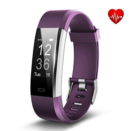 Fitness Tracker, MUXAN Orologio Cardiofrequenzimetro Braccialetto Bluetooth IP67 Impermeabile Smartwatch, Conta passi Calorie bruciate, Notifiche/SMS, Meteo