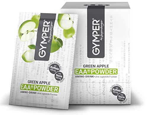 GYMPER by Layenberger EAA+ Powder Amino Drink Green Apple mit Taurin und Koffein, im Portionsbeutel (20 x 20g)