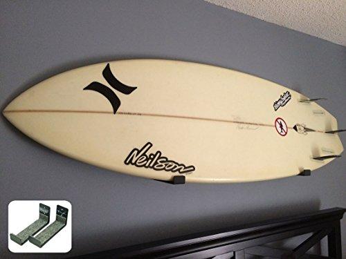 StoreYourBoard Naked Surf | the Original Minimalist Surfboard Wall Rack | Black Display Rack
